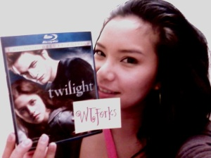 the NBF and her copy of Twilight.. yes, that shit is on BLU RAY.