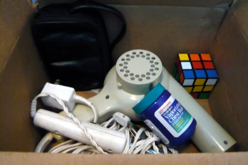 yes, that's a rubik's cube and vapor rub