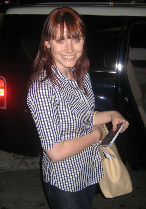 Bryce Dallas Howard with her new bangs